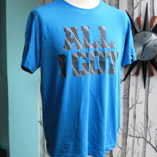 Taille pour coton T shirt Homme en ce j'ai' Climalite que coton M Bleu Logo 'tout en Adidas LjSVqUpzMG