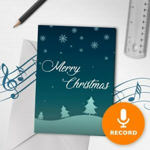 120s Merry Christmas Card Unique Christmas Greeting Card Snow ...