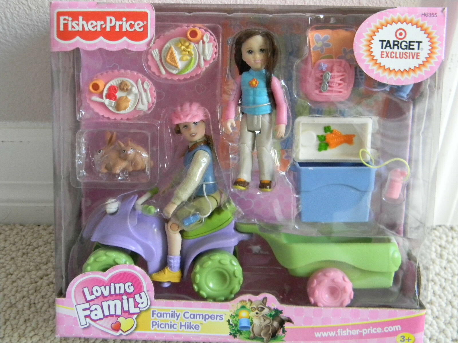 2004 Fisher Price Loving Family dockhus Family Campers Picnic Hike RARE