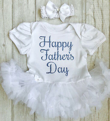 0477fc84829a BABY GIRL S HAPPY FATHER S DAY Tutu Romper Dress Daddy s PRINCESS ...