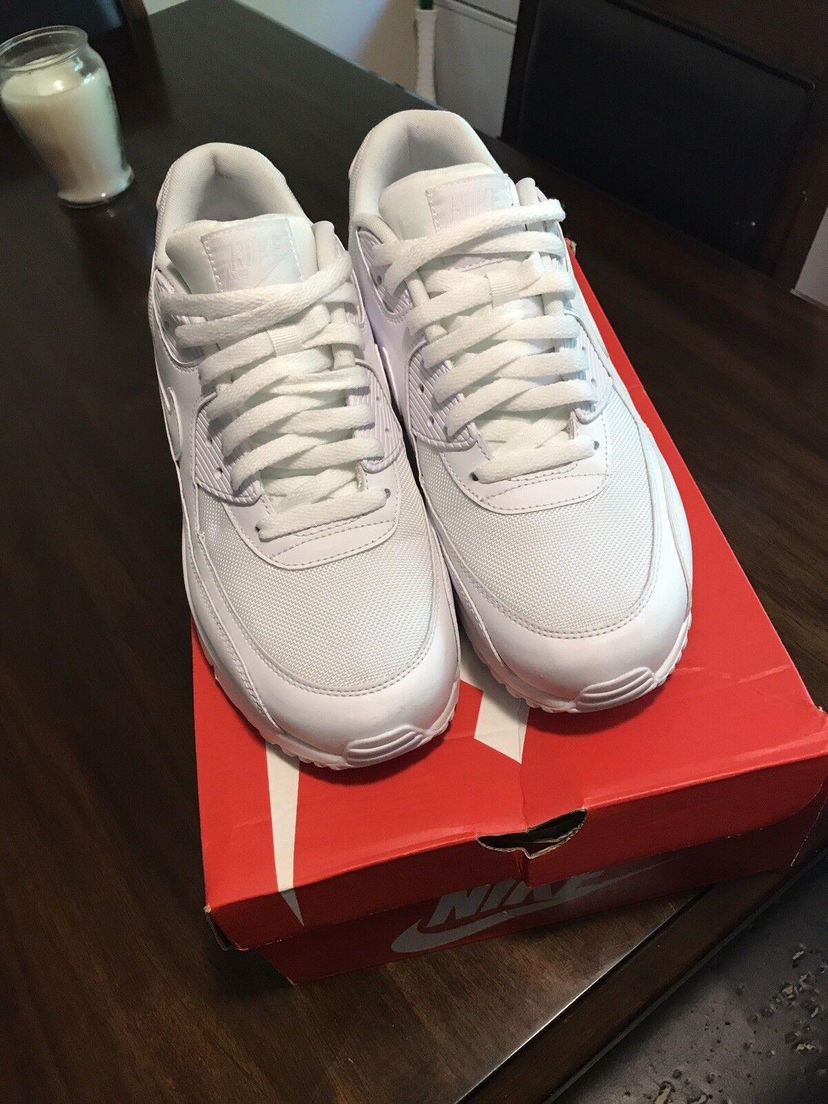 Nike air max 90 cuoio huarache bianco uomini nuovi roshe huarache cuoio presto retr 302519-113 9a2f13