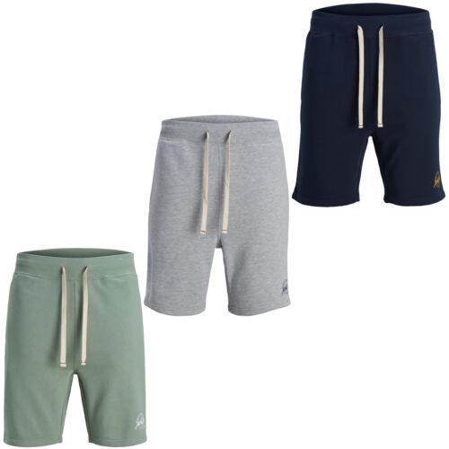 JACK /& JONES Sweat Short Logo Cordon Imprimé à Élastique Pantalon Hommes Jjihazy