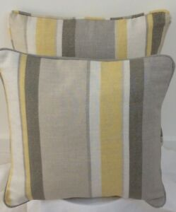"cushion cover laura ashley fabric print  camomile   hydrangea 16/""    piped"