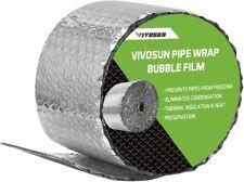 Vivosun Insulated Spiral Pipe Wrap Insulation Bubble Film 6 Inch By 25 Feet