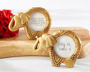 Image Is Loading 48 Lucky Golden Elephant Mini Photo Frames Bridal