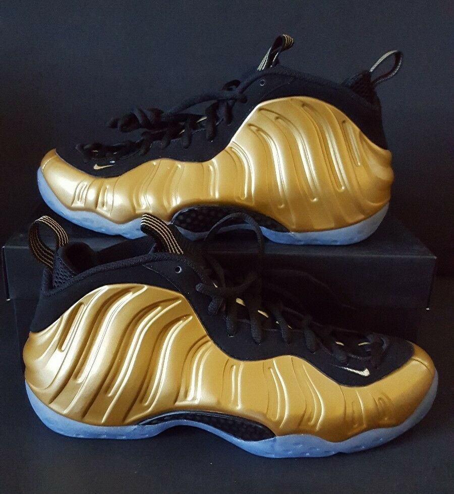 NIKE AIR FOAMPOSITE ONE Size 10 Metallic Gold Black 314996 700 DS Rare