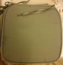 """SET of 4 KITCHEN CHAIR PADS CUSHIONS w/strings, GRAYISH, approx. 15"""" x 15"""""""