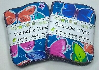 Eco Friendly Toilet Unpaper 2 ply gray Bidet Wipes 20 Reusable Cloth Wipes