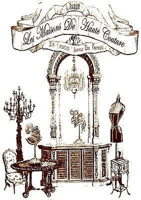 Shabby-Landhaus-Möbeltattoo-Dekoaufkleber-Romantik-Stil **Nr.: 541