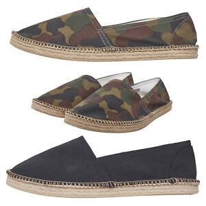 Details zu Urban Classics Canvas Slipper Espadrille Damen Herren Sommer Camo Stoff Schuhe