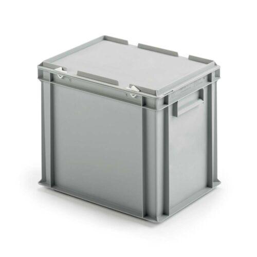 Eurobehälter mit Deckel grau LxBxH 400x300x330 mm PP lebensmittelecht