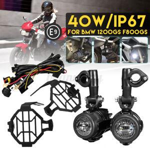 MOTO-LED-Luce-ausiliaria-nebbia-guida-lampada-Guard-Cavo-per-BMW-R1200GS