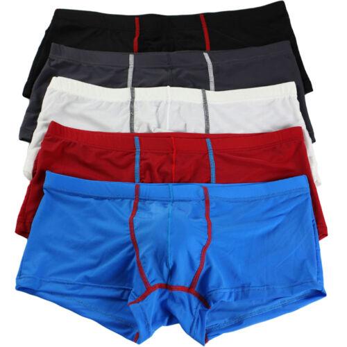 R/_Herren Mode elastisch Unterwäsche Boxer Shorts Ausbuchtung Beutel Unterhosen