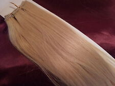 "20""HUMAN WEAVE 100G #613 BEAUTIFUL INDIAN REMY HAIR WEFT UK SELLER"