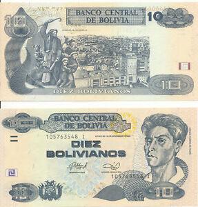 Bolivia-Bolivia-10-Bolivianos-1986-Series-I-2013-UNC-Pick-238a