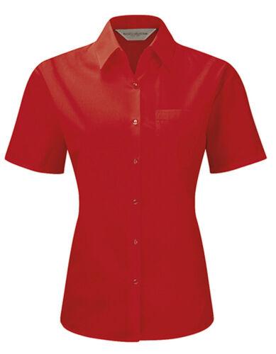 Damen Bluse Businessbluse Oxford Kurzarm XS S M L XL 2XL 3XL 4XL Ökotex