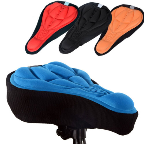 Cycling Bike Saddle Seat Cover Bicycle Riding Soft Gel Pad Seats Cushion Outdoor