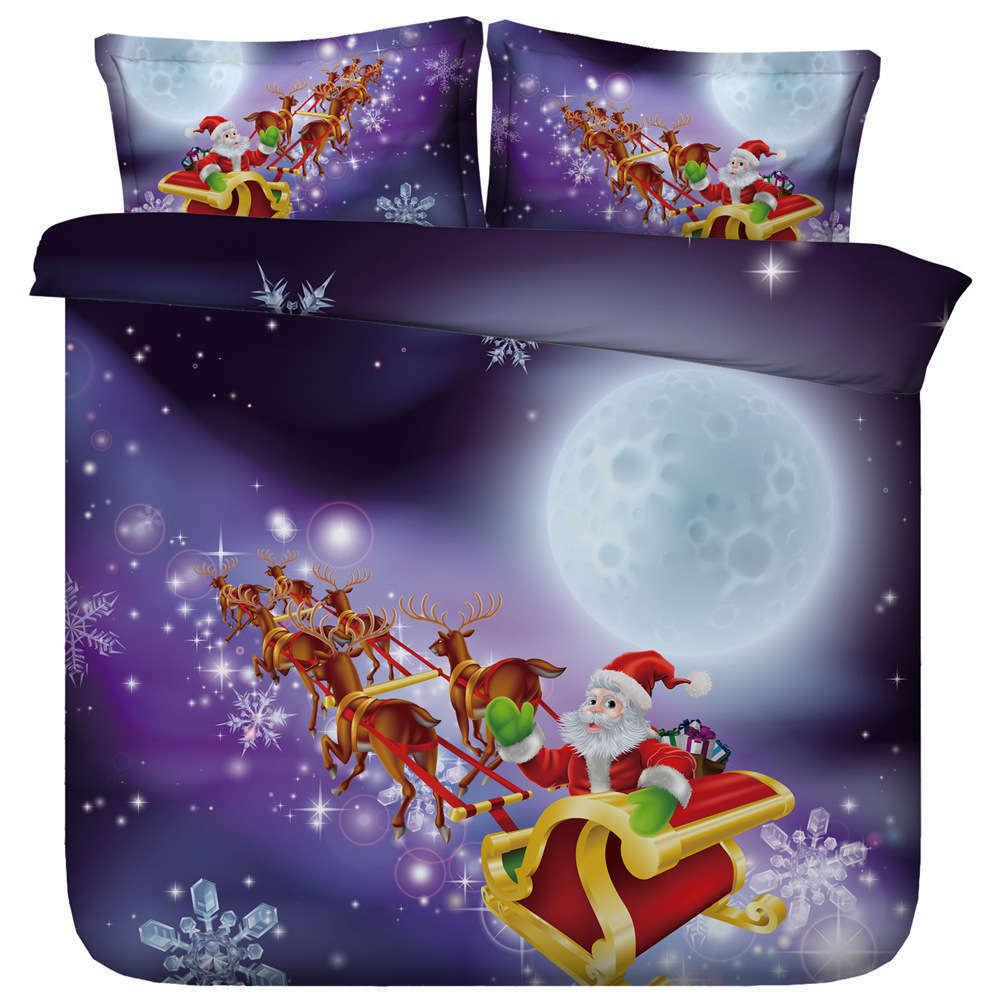 Bright Moon Man 3D Printing Duvet Quilt Doona Covers Pillow Case Bedding Sets