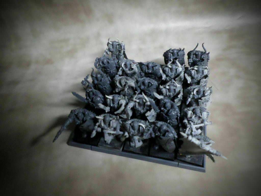 ⇨ 23 Caos Guerreros Magnético bases aos Fantasía Warhammer Edad De Sigmar