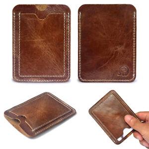 5f04c25313d536 Caricamento dell'immagine in corso Clip-Porta-Carte-Credito-Portafoglio-VERA -Pelle-Banconote-