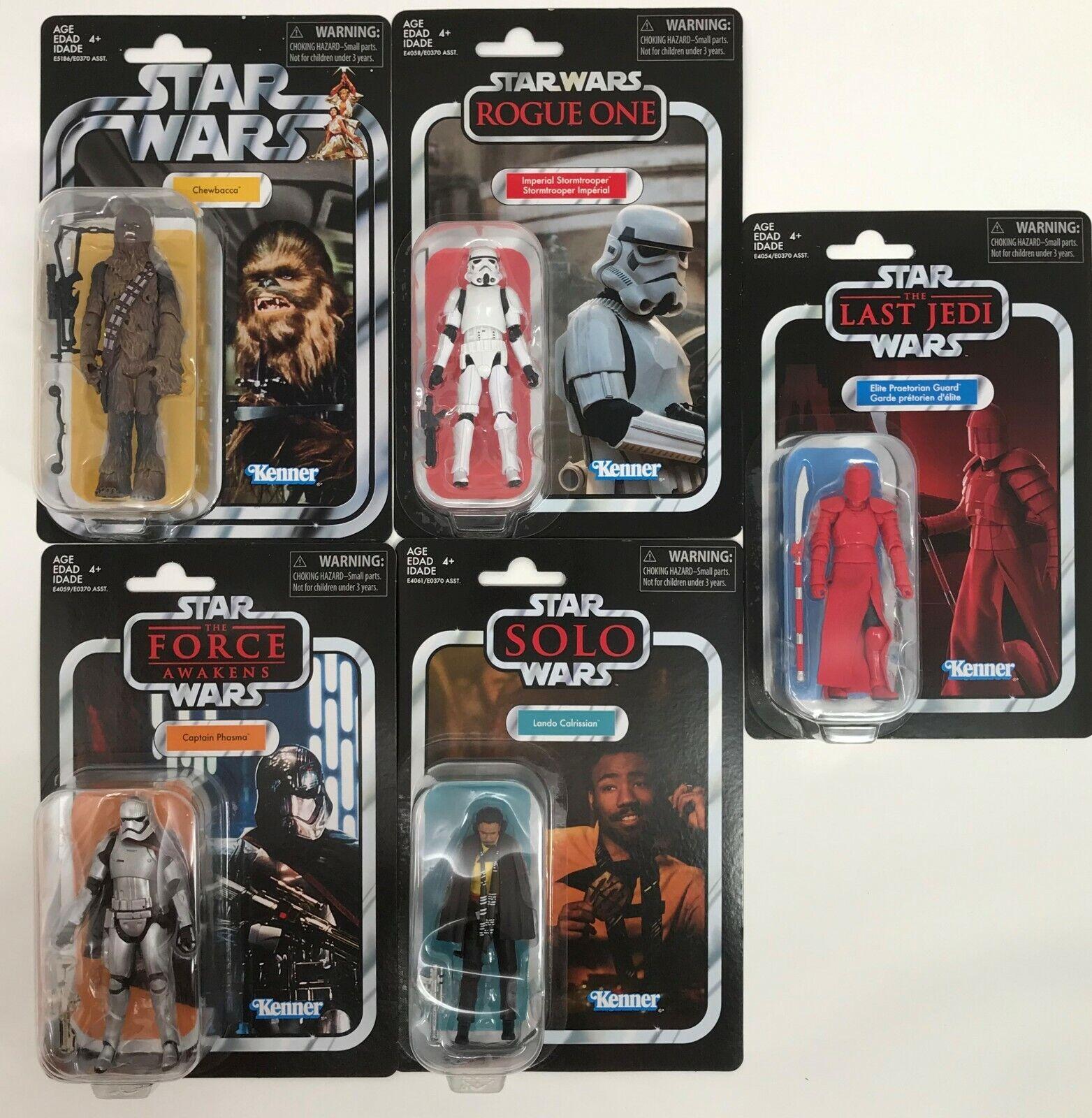 para barato Estrella Wars Vintage Colección Colección Colección Wave 6-Lando, phasma, Chewbacca, Stormtrooper  presentando toda la última moda de la calle