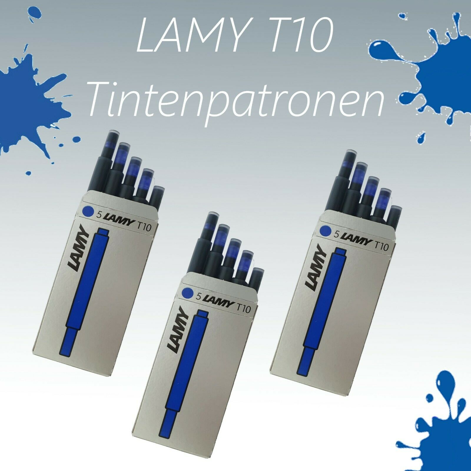 "Lamy Patronen Original T10 blau /""Menge frei wählbar/"""