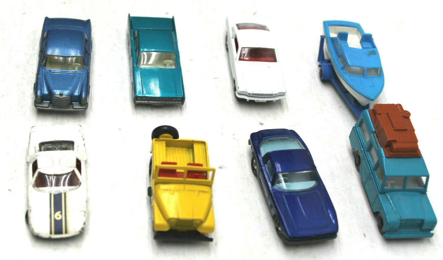 Original 1 Owner 1966 1967 Lesney England Matchbox 8pc Road & Race Mustang ISO++
