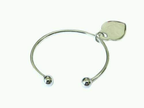 Black Friday 925 Sterling Silver Baby/'s Solid Torque Bangle With Heart Charm