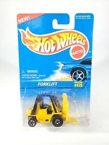 1991-Hot-Wheels-Mattel-Forklift-Die-Cast-Metal-Collector-No-475-NOC-w-Protecto