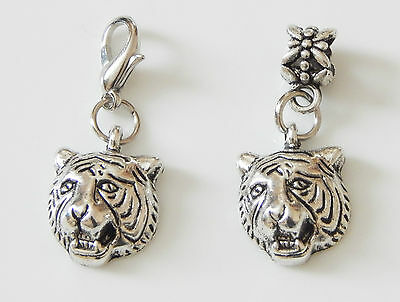 Bengal Tiger Enameled Wire Earrings