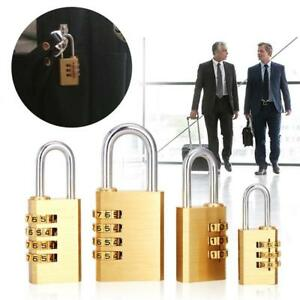 Home Security Home Security Locks 3/4Gold Digits Number Mini Padlock Brass Combination Lock Password Lock Password