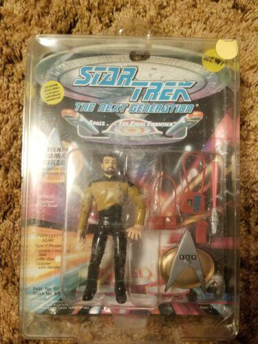Playmates Star Trek The Next Generation Lieutenant Thomas Riker MOC 1994 Difficile à trouver
