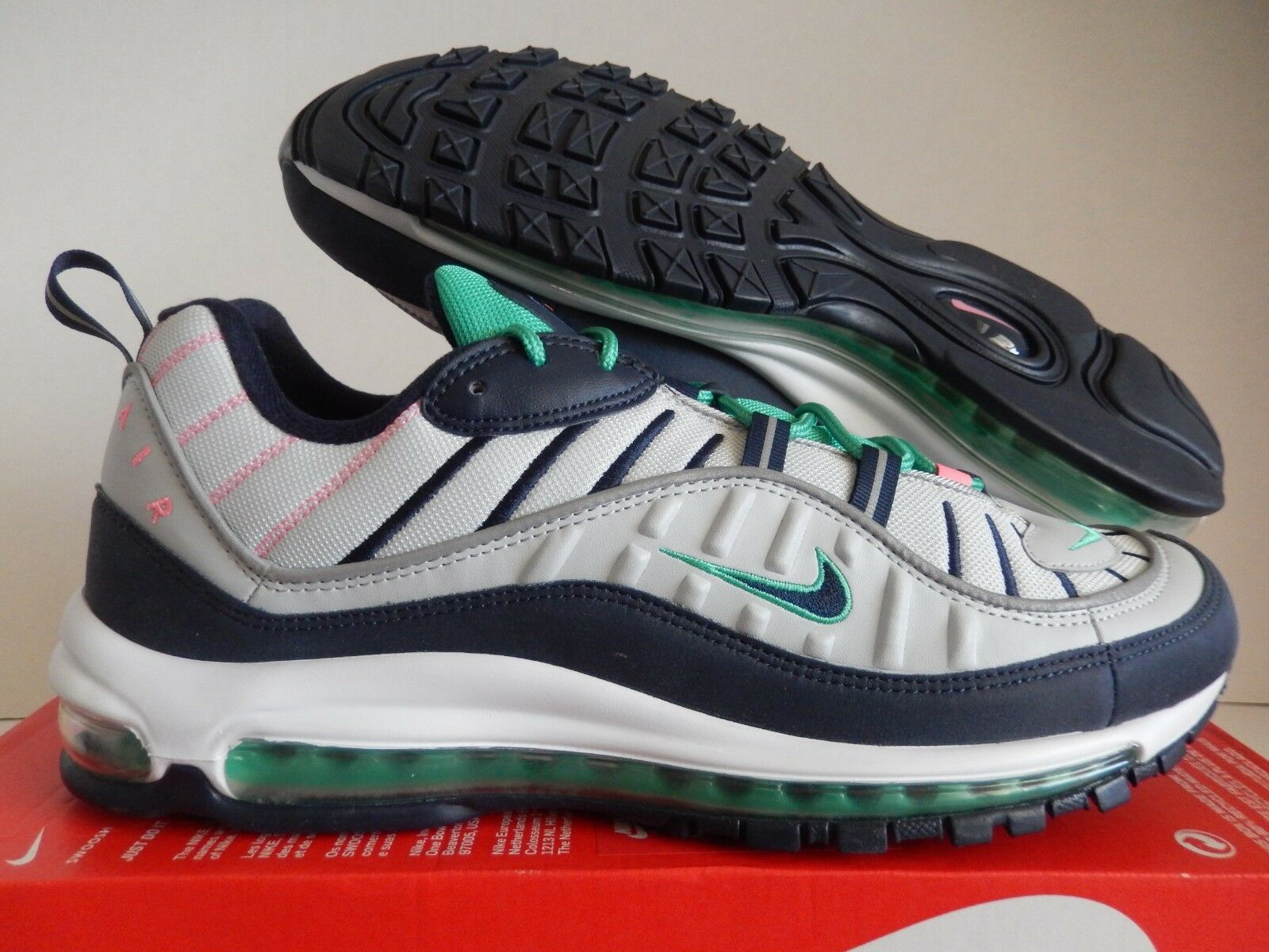 NIKE AIR MAX 98 SOUTH BEACH PURE Platinum-Obsidienne Taille 14
