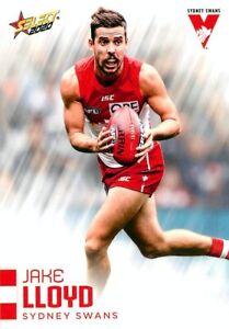 New-2020-SYDNEY-SWANS-AFL-Card-JAKE-LLOYD-Footy-Stars