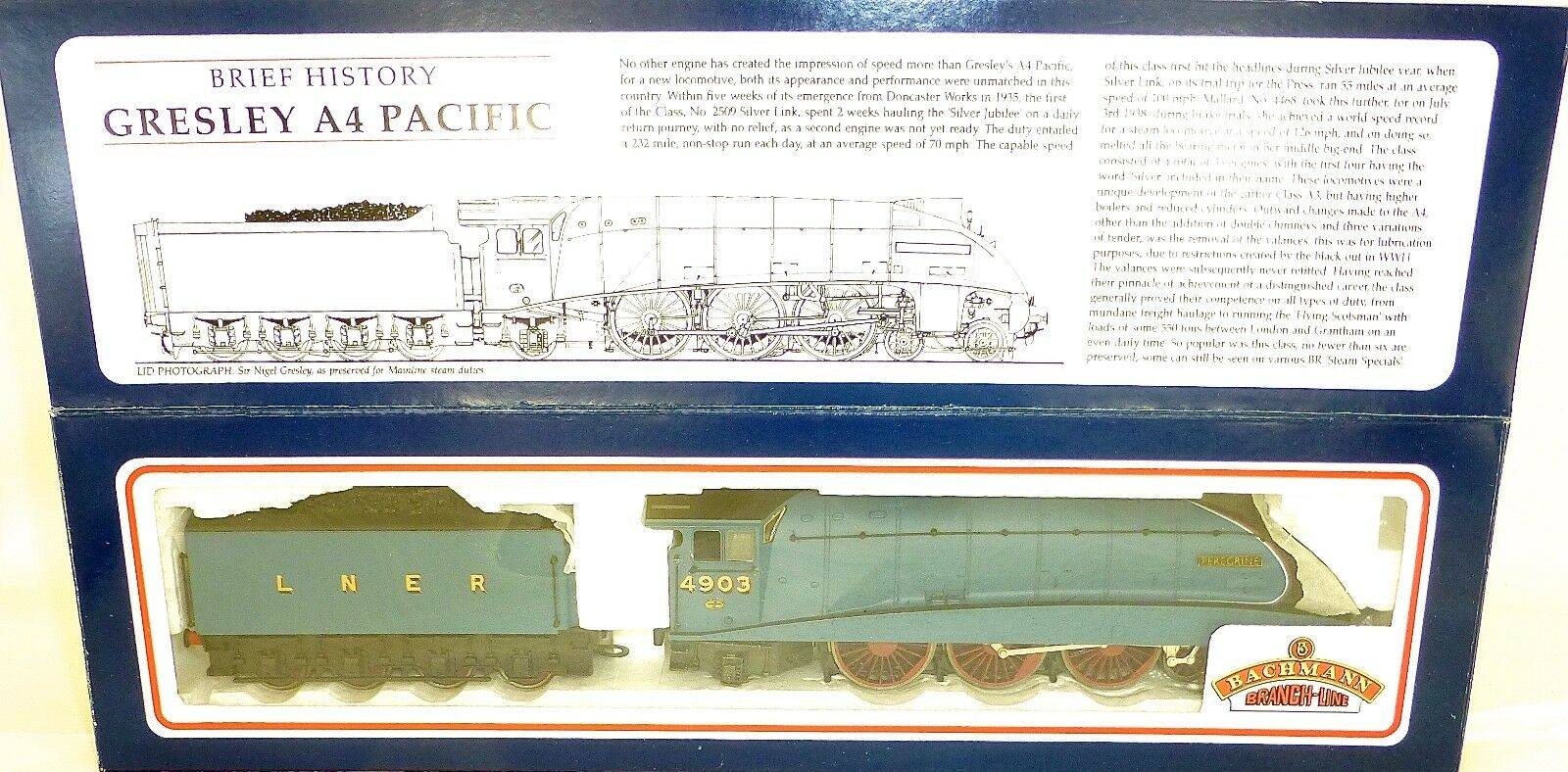 Hornby 31-952 a4 L.N. E.R. Peregrine 4-6-2 locomotiva 4903 blu 00 1:87 ka3 Å *