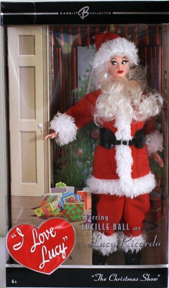 Lucy Santa Claus la muñeca Barbie cláusula Disfraz Navidad Show Lucielle Pelota Juguete Rara