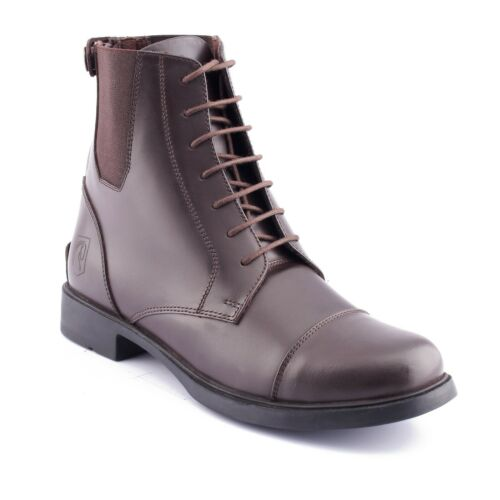 BLACK BROWN SHORT HORSE RIDING BOOTS UK 4-8 RYDER FRONT LACED JODHPUR BOOTS