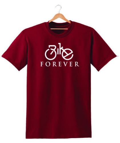 BIKE FOREVER T SHIRT TEE UNISEX GIFT PRESENT BIRTHDAY CYCLING BICYCLE GIFT