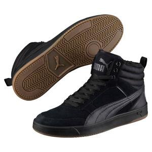 Details about Puma Rebound Street SD Fur Winter Boots Mens Black Lined 366994 show original title