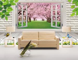 3D Schmetterling Fenster 865 Tapete Wandgemälde Tapete Tapeten Bild Familie DE