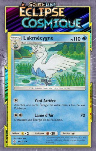 Carte Pokemon Neuve Française Lakmécygne 60//236 SL12:Éclipse Cosmique