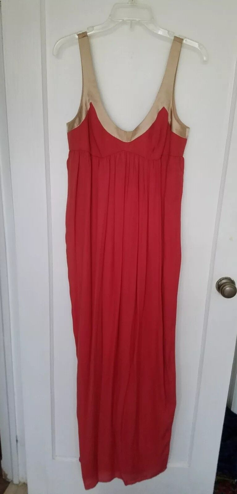 NWT Laundry by Design Coral Empire Waist Evening Maxi Dress Größe 6