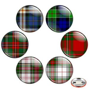 Tartan-Pattern-1-25-034-Pinback-Button-BADGE-SET-Novelty-Pins-Plaid-Check-32-mm