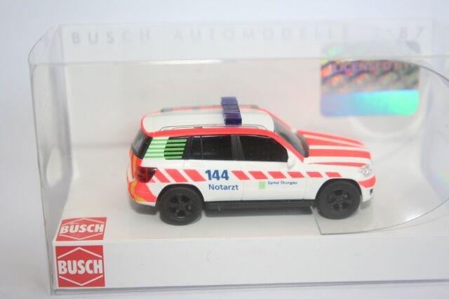 Busch 49771 - 1/87 - Mercedes-Benz Glk Klasse - Notarzt Schweiz - Neu