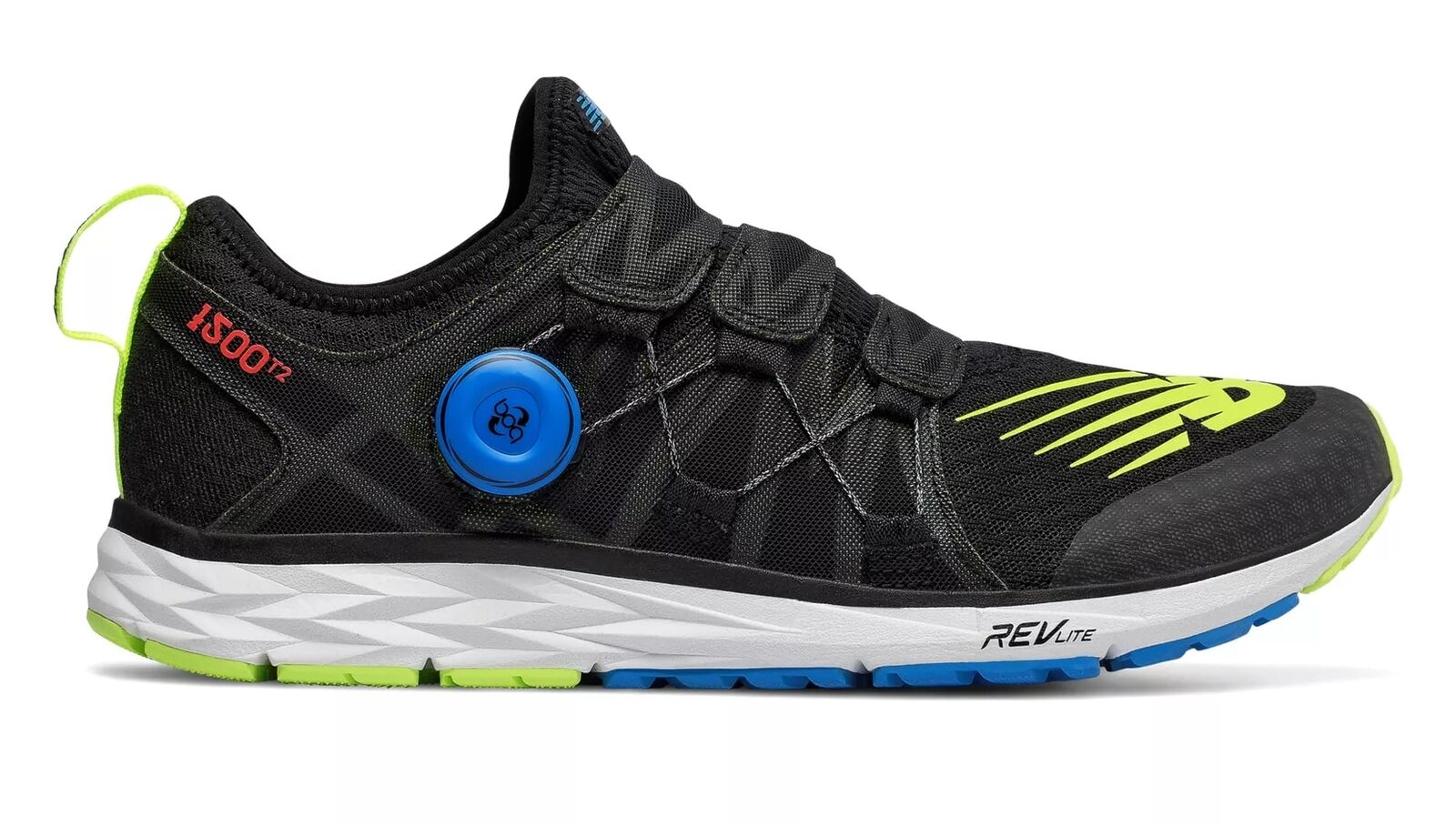 New Balance 1500T2 Scarpa da Corsa Running men Palestra Black with Hi-Lite bluee