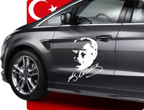 25cm Mustafa Kemal Atatürk Imza Imzasi Türkiye Auto Türkei Sticker Aufkleber
