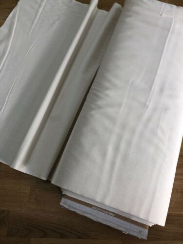 50x114cm Unbleached Natural Muslin Calico Toile Fabric 100/% Cotton Pre Shrunk