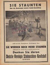 BERLIN, Werbung 1925, Deutsche Vereinigte Schuhmaschinen GmbH Stiefel Schuhe