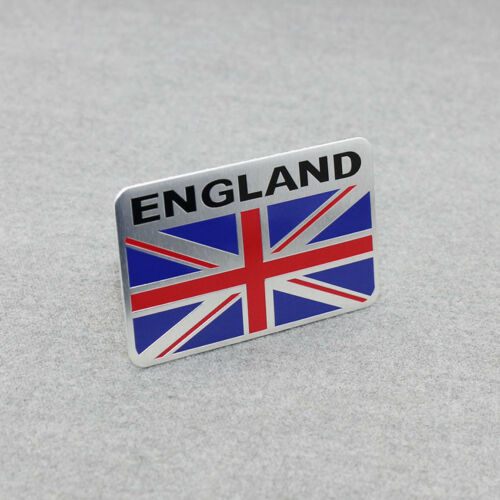 Racing Sport ENGLAND Britain Flag Car Rear Oblong Emblem Badge Decal Sticker