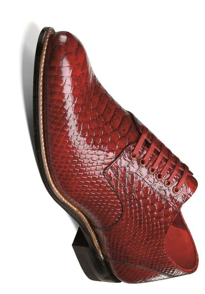 Stacy Stacy Stacy Adams Herren Madison Rot Anaconda Bedrucktes Kleid Oxford Club Party 52793f
